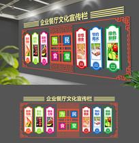 中式校园节约粮食文化墙展板