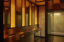 马卡龙色现代餐厅洗手台