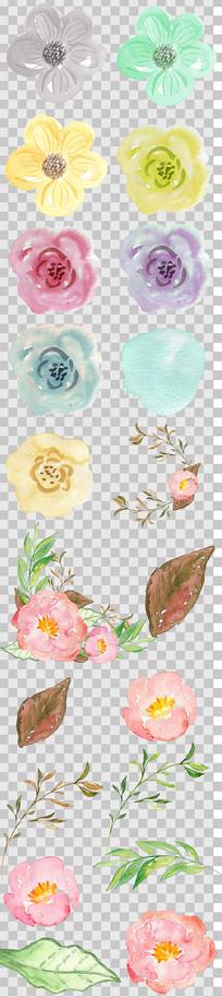 唯美粉色手绘花朵