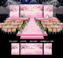 樱花婚礼背景效果图