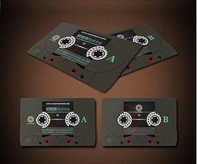 磁带复古名片