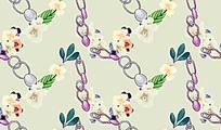 V型链条花纹图案