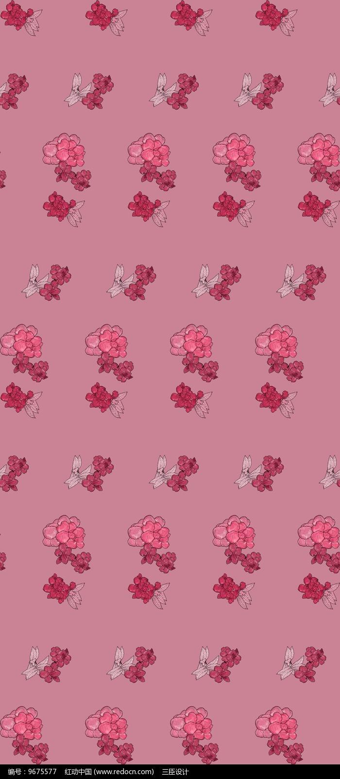 粉色小碎花阵列背景图图片