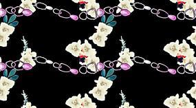 黑色线性链条花纹背景