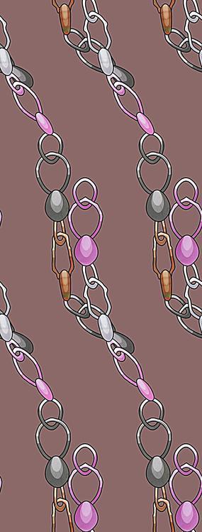 灰紫色卡通贝壳装饰链