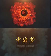 火焰中国梦LOGO片头AE