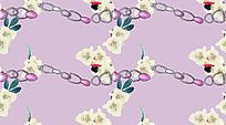 浅粉线性链条花纹背景