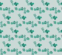 青绿色小碎花图案墙纸