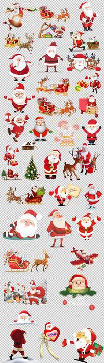 圣诞老人圣诞树圣诞元素合集