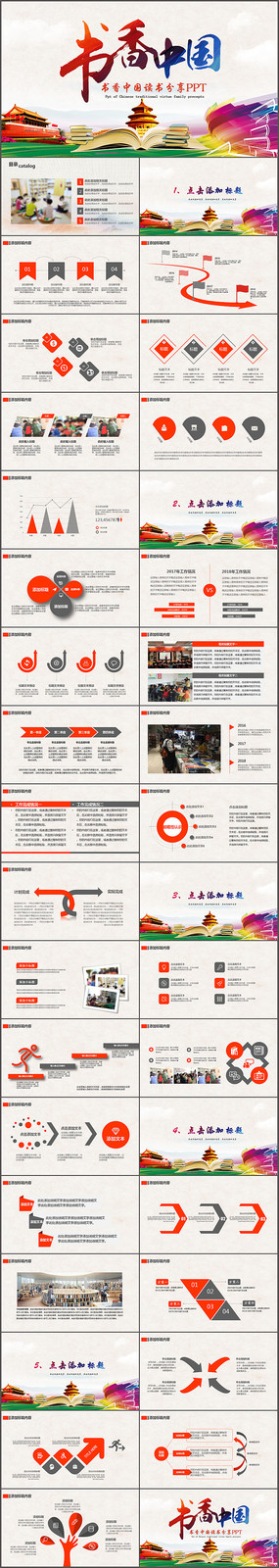 书香中国读书分享PPT