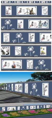 中式传统文化墙