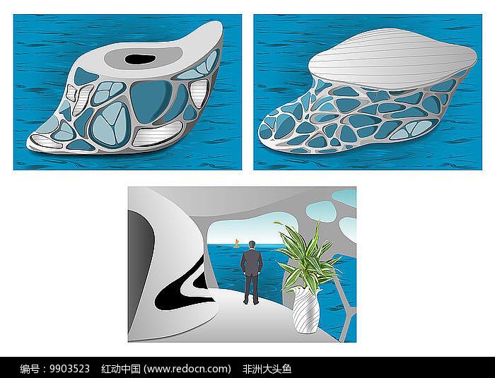 手绘浮动房原创设计