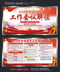 红色2018经济会议党建展板