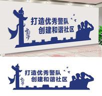 基层社区公安文化墙宣传
