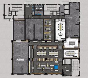 设计师之家办公室彩平图 JPG