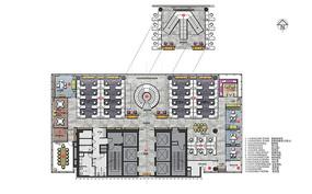 现代办公室十八层彩平图 JPG