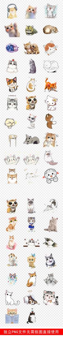 宠物店手绘猫可爱小猫咪素材