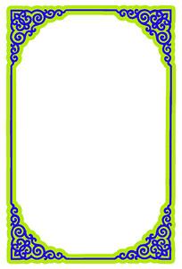 传统边框元素花纹边角纹样