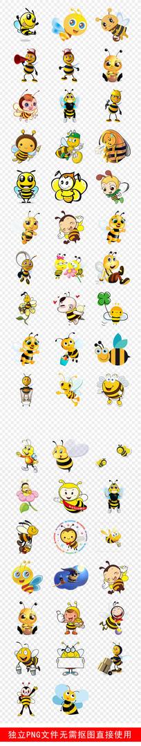 儿童幼儿园蜂蜜采蜜贴纸素材