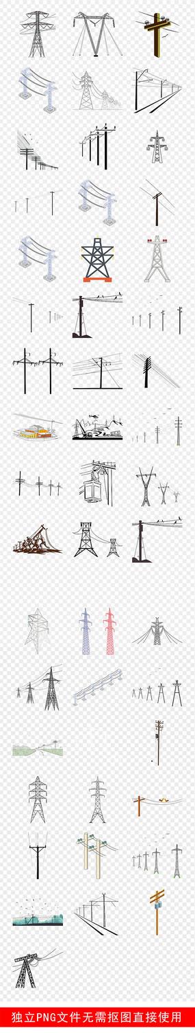 高压线电线杆