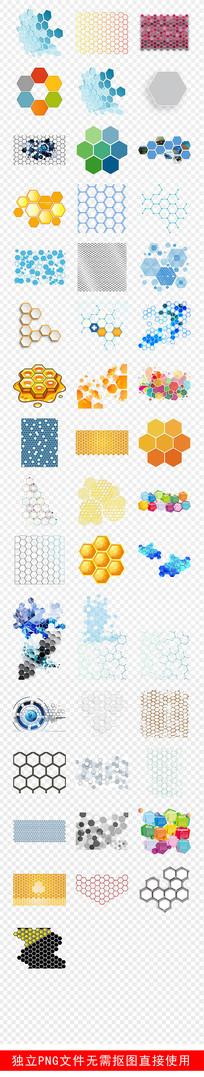 蜂窝科技分子多边形造型素材