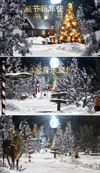 圣诞节新年节日片头视频模板