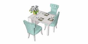 餐桌椅模型
