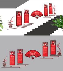 四个自信楼梯文化墙