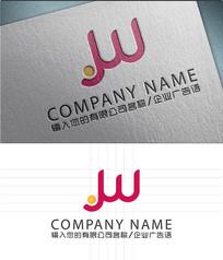 jw字母LOGO标志设计