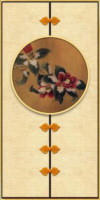 新中式现代茶花装饰画