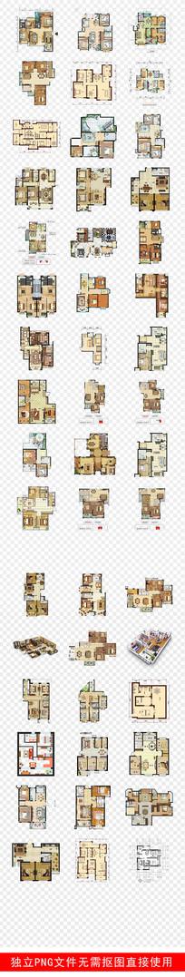 平面户型图房地产素材PNG