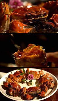 洞庭湖大闸蟹美食实拍特写视频