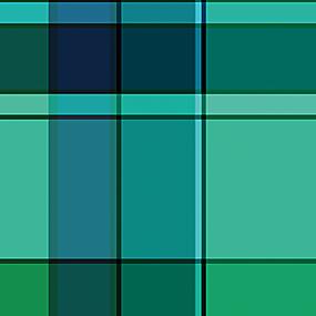 绿色方格拼接图案印花