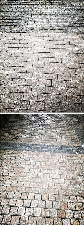 广场道路小砖块铺装