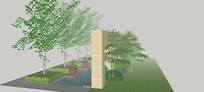 绿植布景SU模型