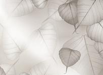 现代简约灰色树叶装饰背景墙