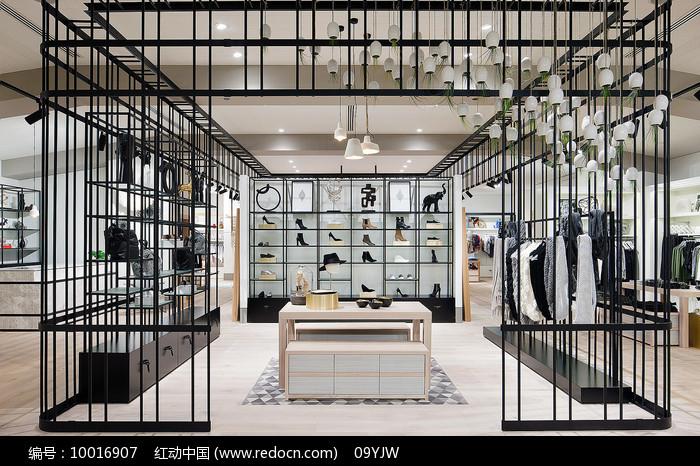铁制笼子元素鞋子店意向图片
