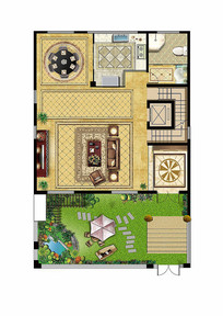 別墅戶型圖平面彩圖