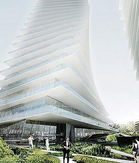 玻璃建筑办公楼景观