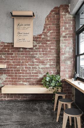 创意工业风红砖室内背景墙