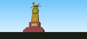 旅游城市雕塑SU模型