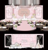 大理石简约婚礼舞台设计