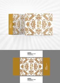 高档祥云底纹包装盒设计
