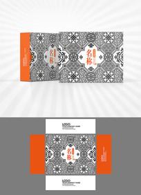 古典黑白底纹包装设计