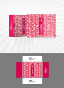 柔美花纹包装盒设计