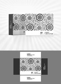 矢量花纹背景包装设计