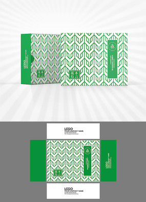 矢量幾何圖案包裝盒設計