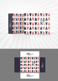树木图案背景包装设计