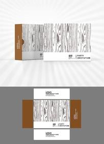 树皮底纹包装盒设计AI矢量
