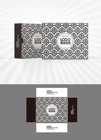 云海底纹包装盒设计